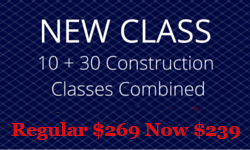 Combine your OSHA 10 Hour and OSHA 30 Hour Construction Class and Save!