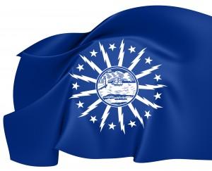 Flag of the city of buffalo, ny