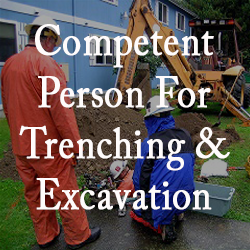 Image that identifies this as the Competent Person for Trenching and Excavation Course