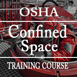 graphic identifying this as OSHA confined space training course