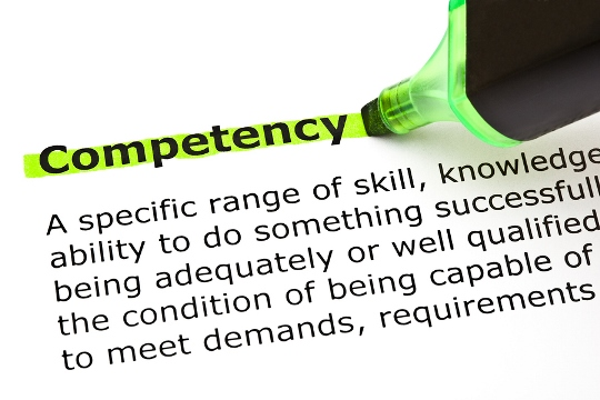 Dictionary definition of competency