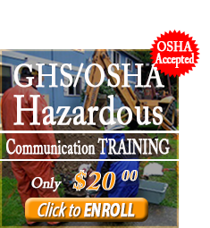 Enroll in the GHS/OSHA Hazardous Communication Training Course